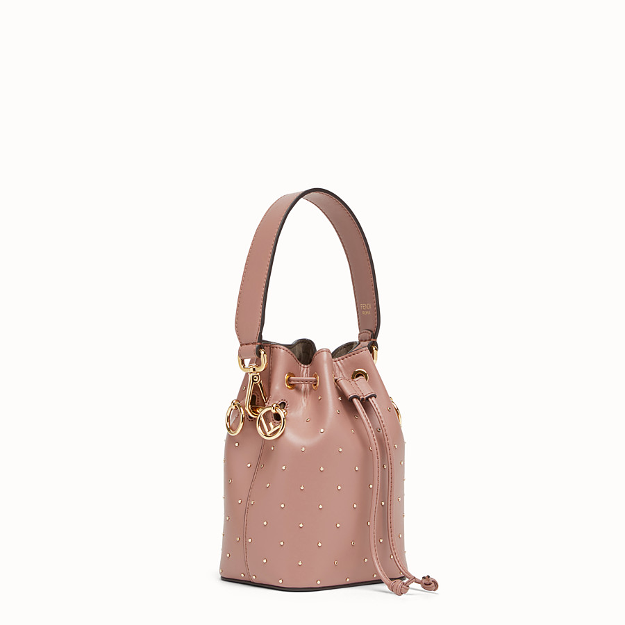 FENDI MON TRESOR - Pink leather mini-bag - view 2 detail