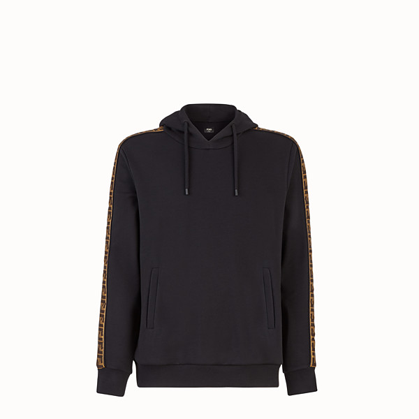 FENDI SWEAT-SHIRT - Sweat-shirt en laine et coton noir - view 1 small thumbnail