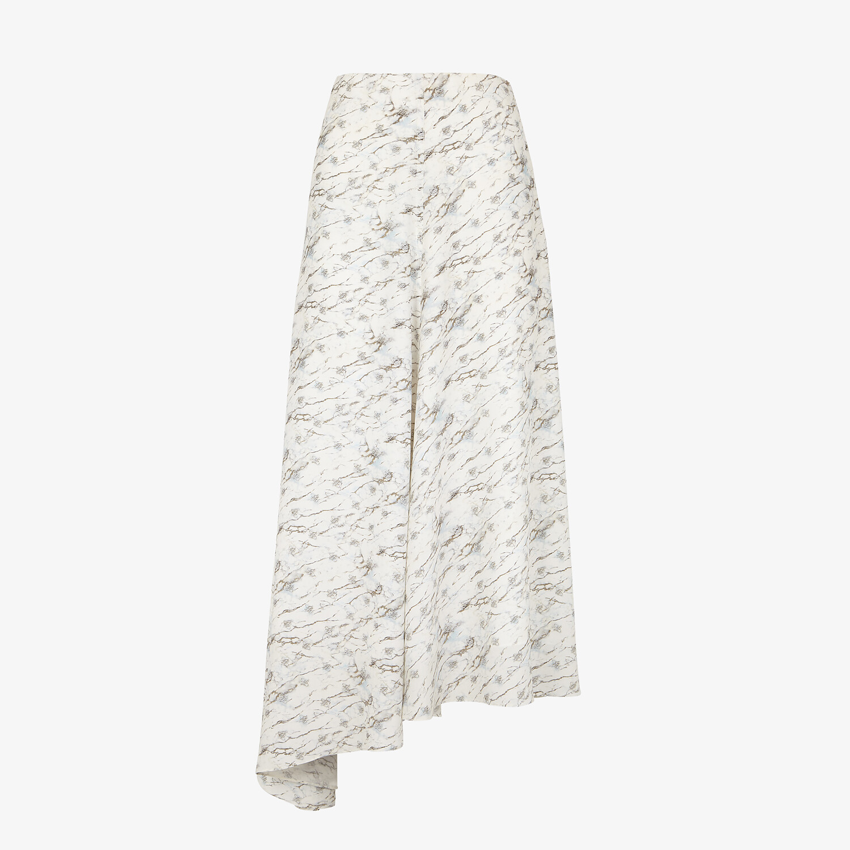 FENDI SKIRT - White silk skirt - view 1 detail