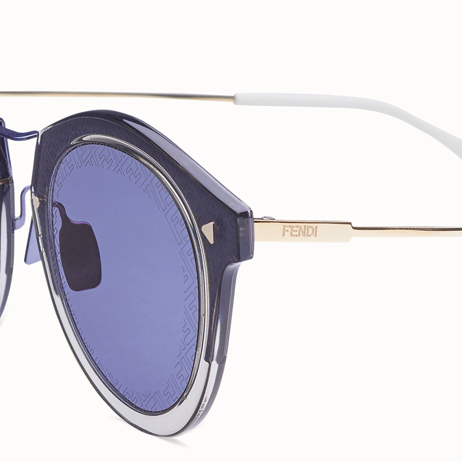 FENDI FF - Blue and gold sunglasses - view 3 detail