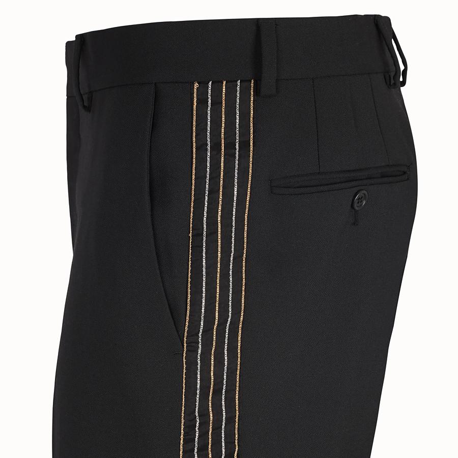 FENDI TROUSERS - Black wool trousers - view 3 detail