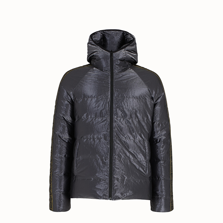 FENDI DOWN JACKET - Metallic tech fabric padded jacket - view 4 detail