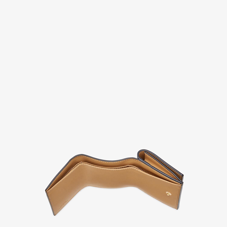 FENDI MICRO TRIFOLD - Black leather wallet - view 4 detail