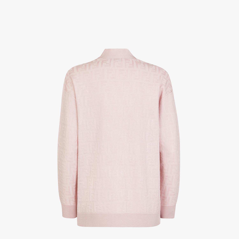 FENDI CARDIGAN - Pink viscose and cotton cardigan - view 2 detail