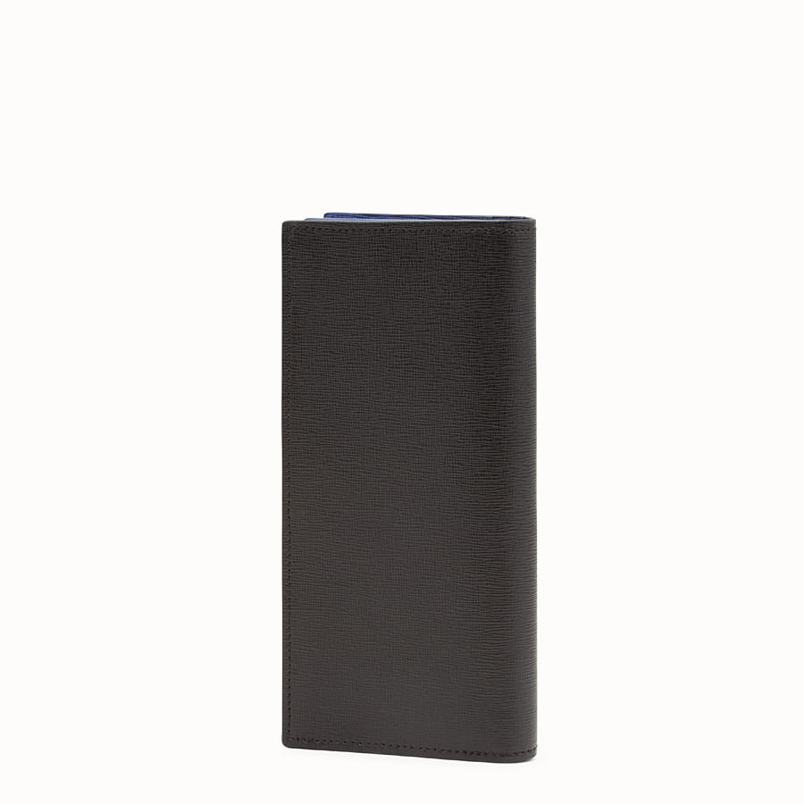 FENDI CONTINENTAL - Black leather continental wallet with inlay - view 2 detail