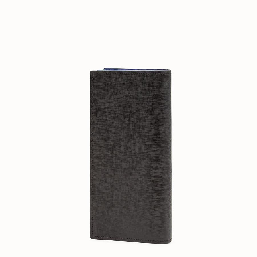 FENDI LANGE FORM - Langes Portemonnaie aus schwarzem Leder mit Einlegearbeit - view 2 detail