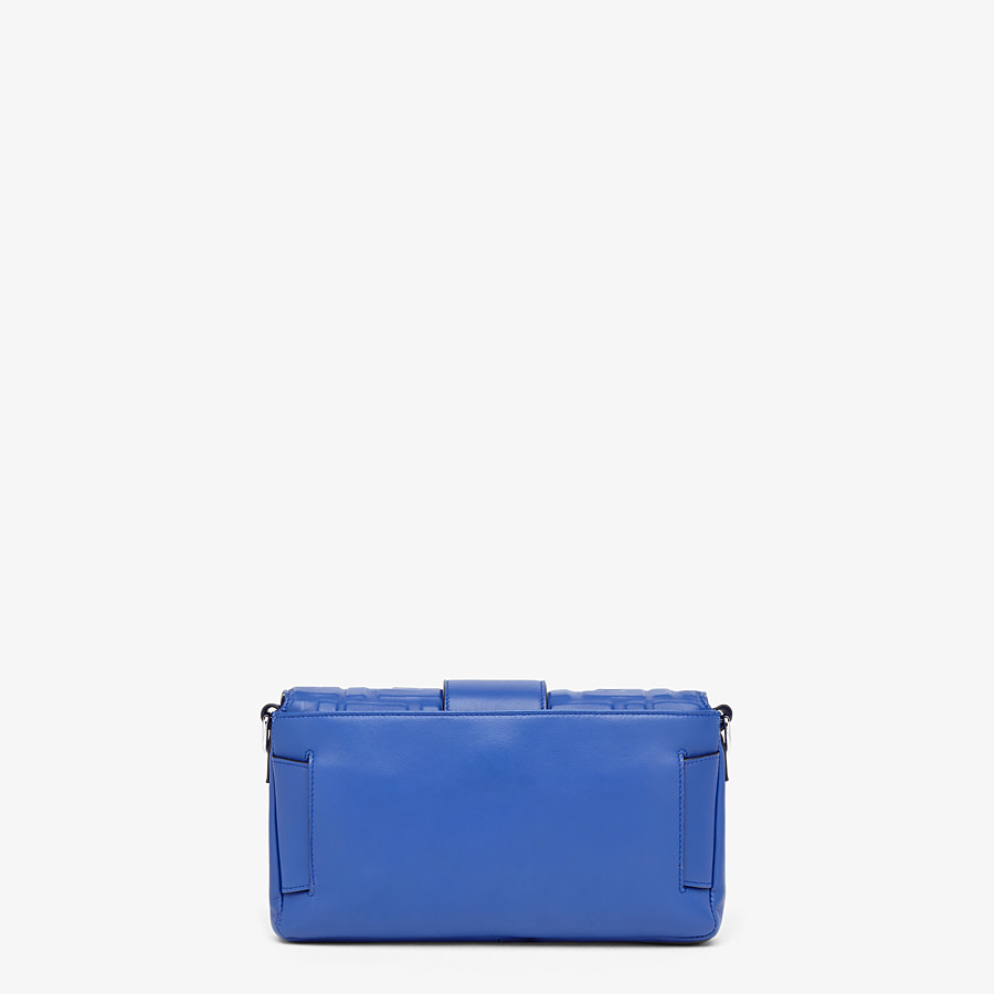 FENDI BAGUETTE - Blue nappa leather bag - view 4 detail