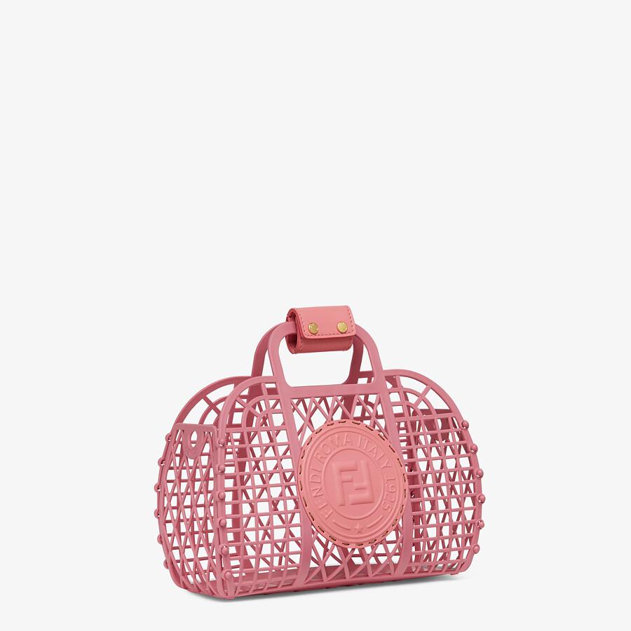 FENDI FENDI BASKET SMALL - Pink recycled plastic mini-bag - view 2 detail