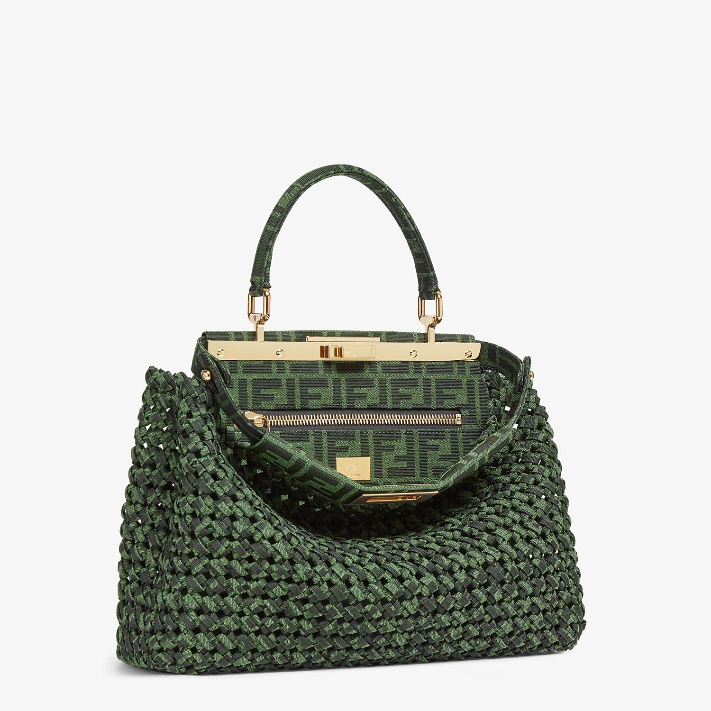 FENDI PEEKABOO ICONIC MEDIUM - Jacquard fabric interlace bag - view 2 detail