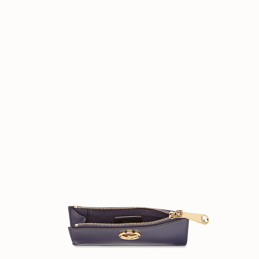 FENDI CARD POUCH - Blue leather pouch - view 4 detail