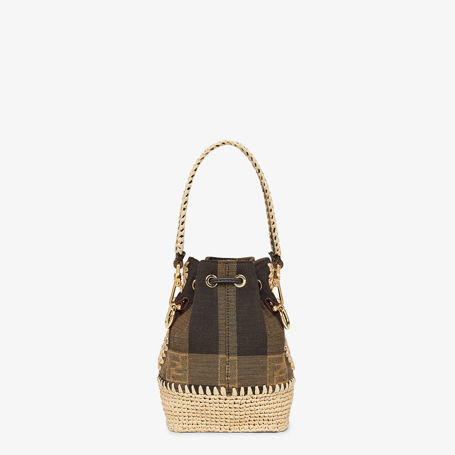 FENDI MON TRESOR - Brown fabric mini-bag - view 4 detail