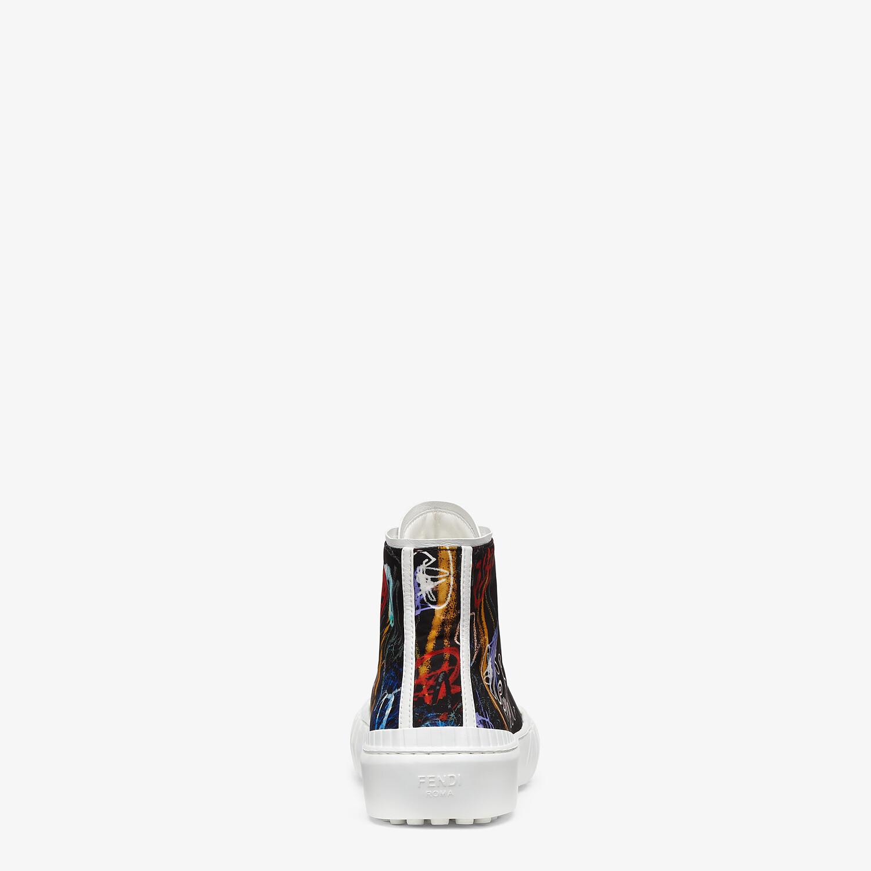 FENDI SNEAKERS - Multicolor nylon high-tops - view 3 detail