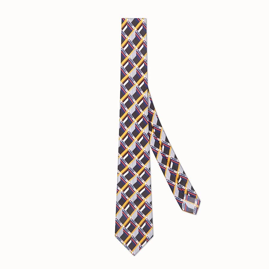 FENDI TIE - Multicolour silk tie - view 1 detail