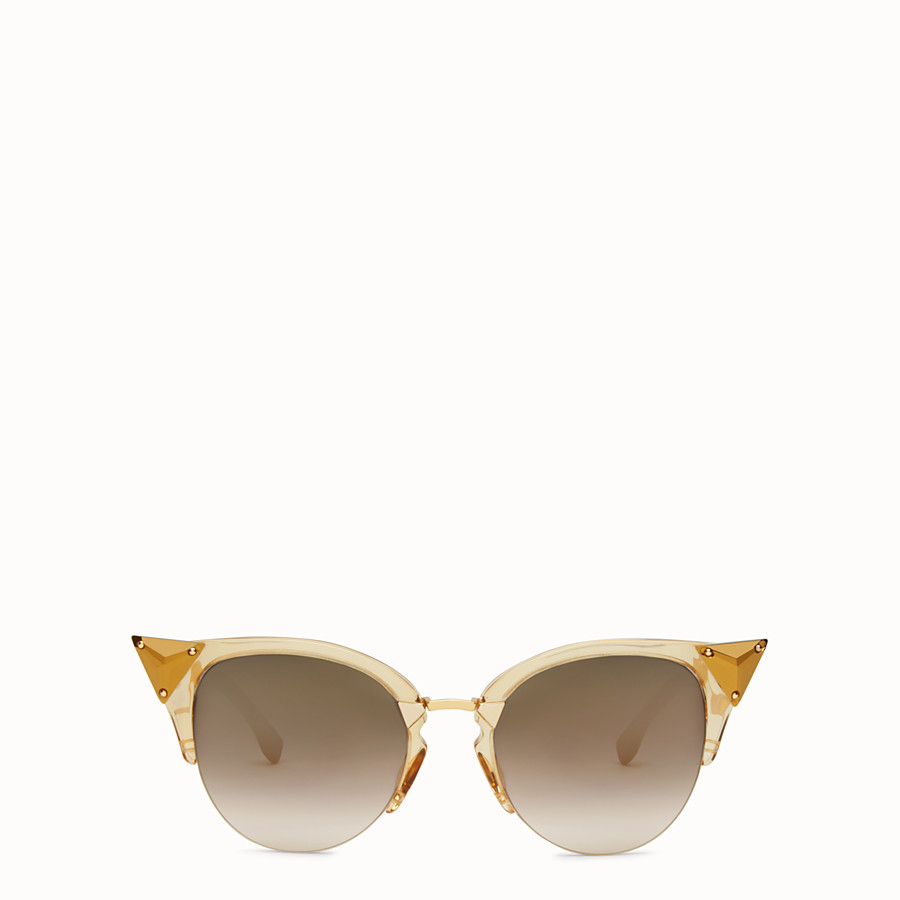 FENDI IRIDIA - Gold-coloured sunglasses - view 1 detail