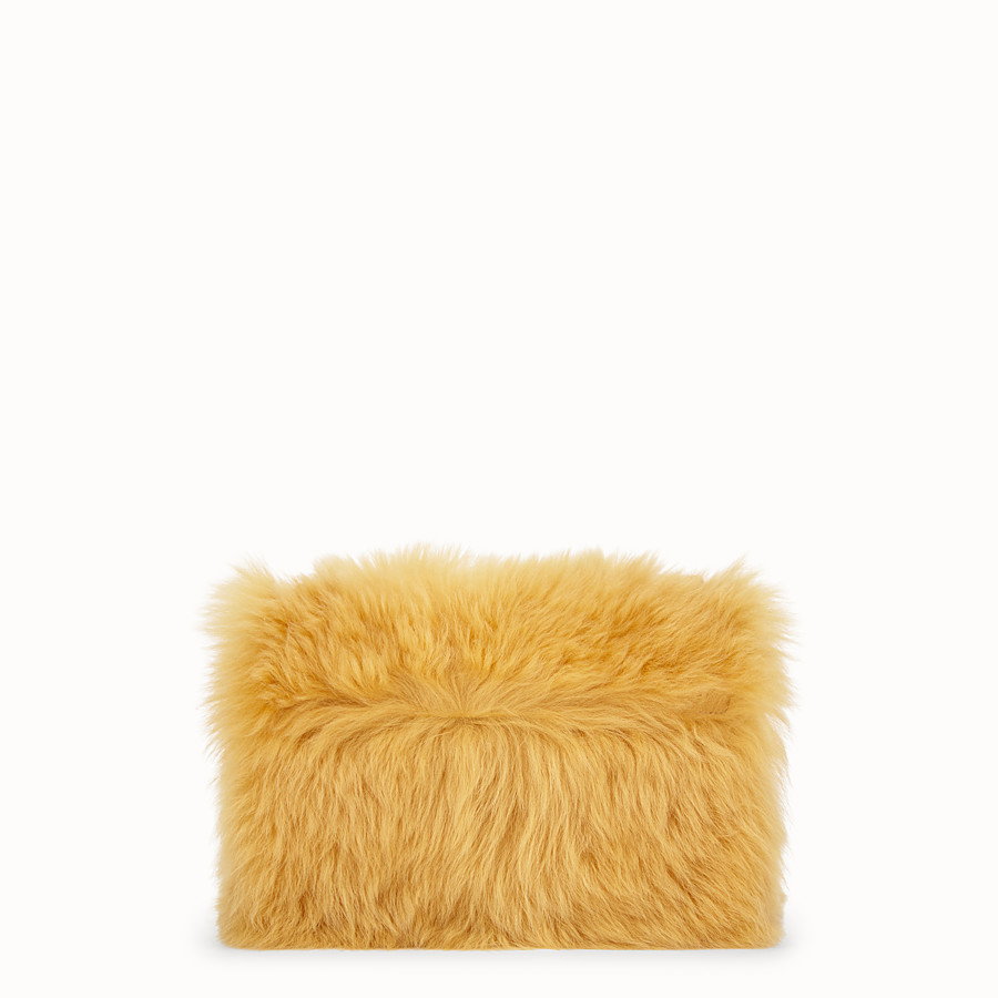 FENDI KAN U - Yellow sheepskin bag - view 3 detail