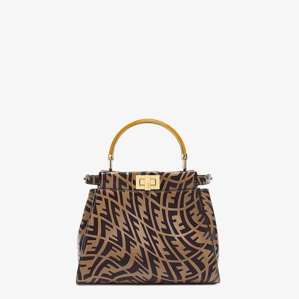 Brown leather FF Vertigo bag