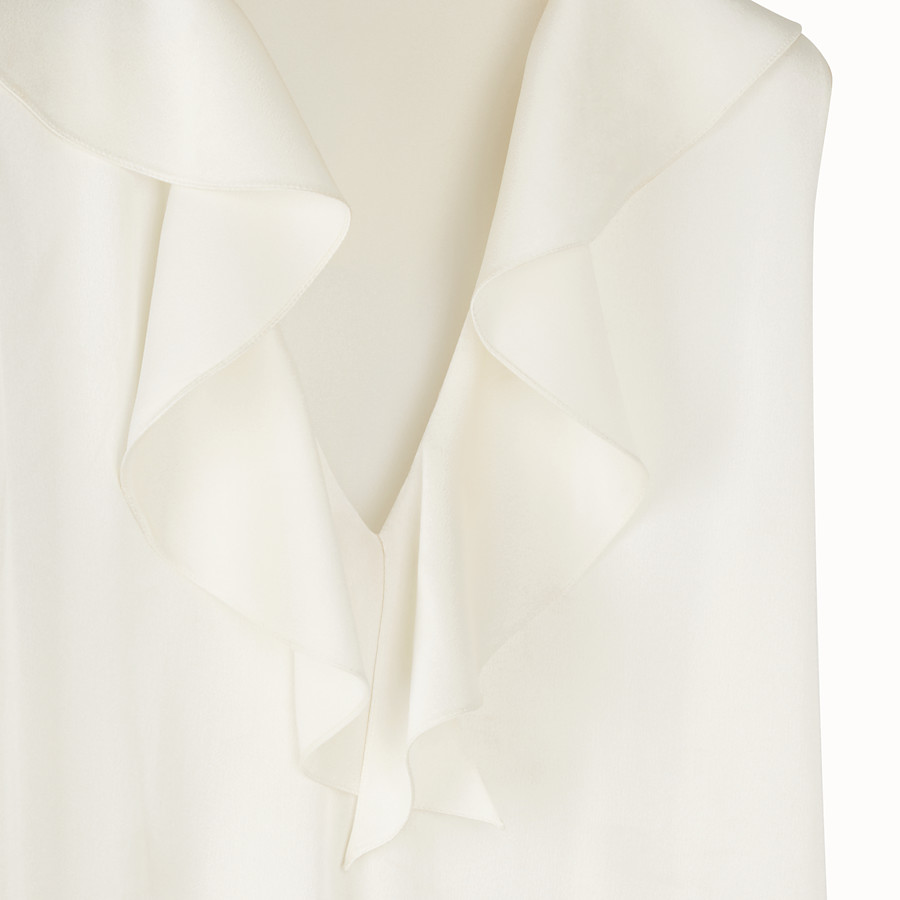 FENDI DRESS - White satin dress - view 3 detail