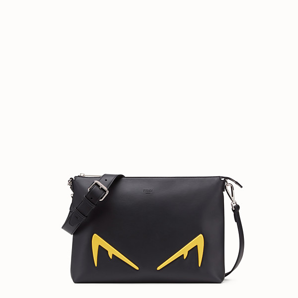 FENDI MESSENGER - Sac en cuir noir - view 1 small thumbnail