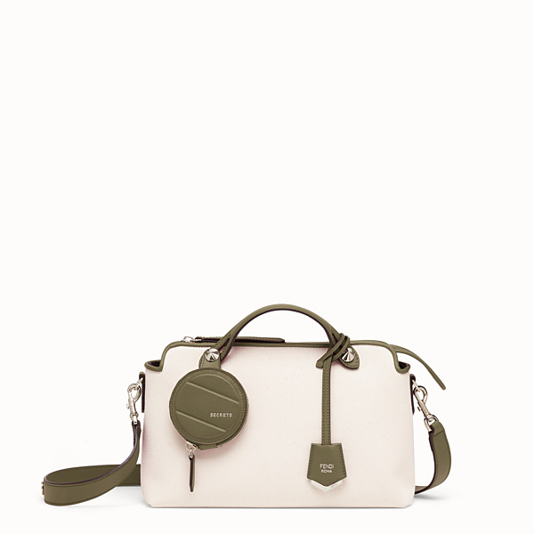 FENDI BY THE WAY MEDIUM - Bauletto in canvas beige - vista 1 thumbnail piccola
