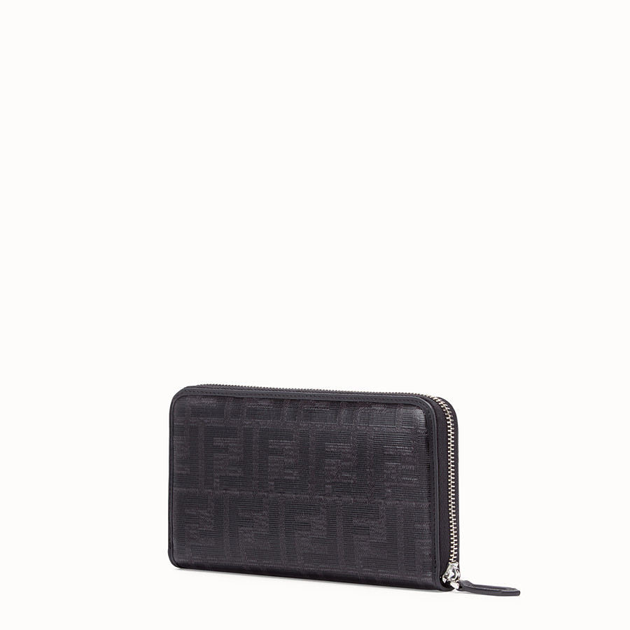 FENDI ZIP-AROUND - Black fabric wallet - view 2 detail