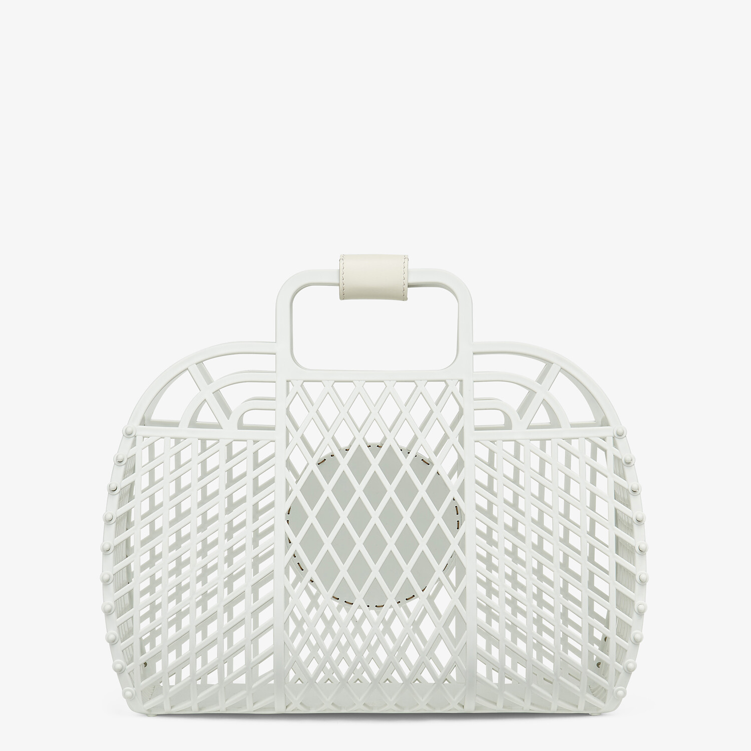 FENDI FENDI BASKET MEDIUM - White recycled plastic mini-bag - view 4 detail