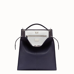 FENDI PEEKABOO X-LITE FIT - Blue Romano leather bag - view 1 thumbnail