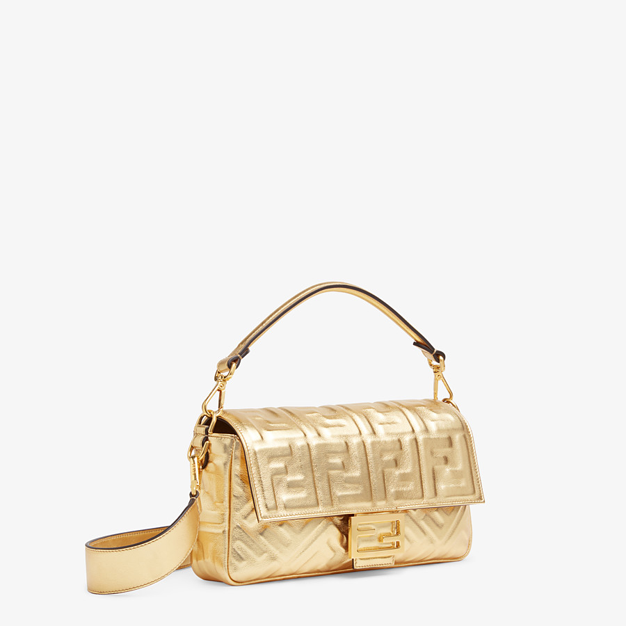 FENDI BAGUETTE - Golden leather bag - view 3 detail