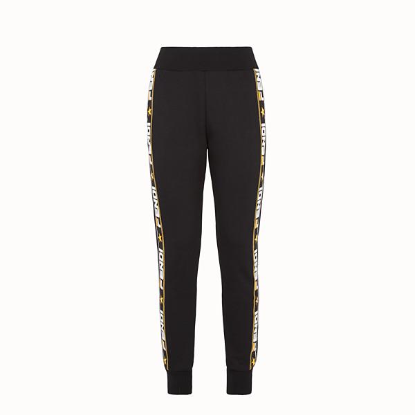 FENDI TROUSERS - Black fabric tracksuit pants - view 1 small thumbnail