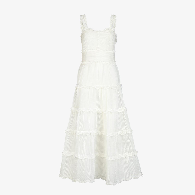 FENDI DRESS - White silk dress - view 1 detail