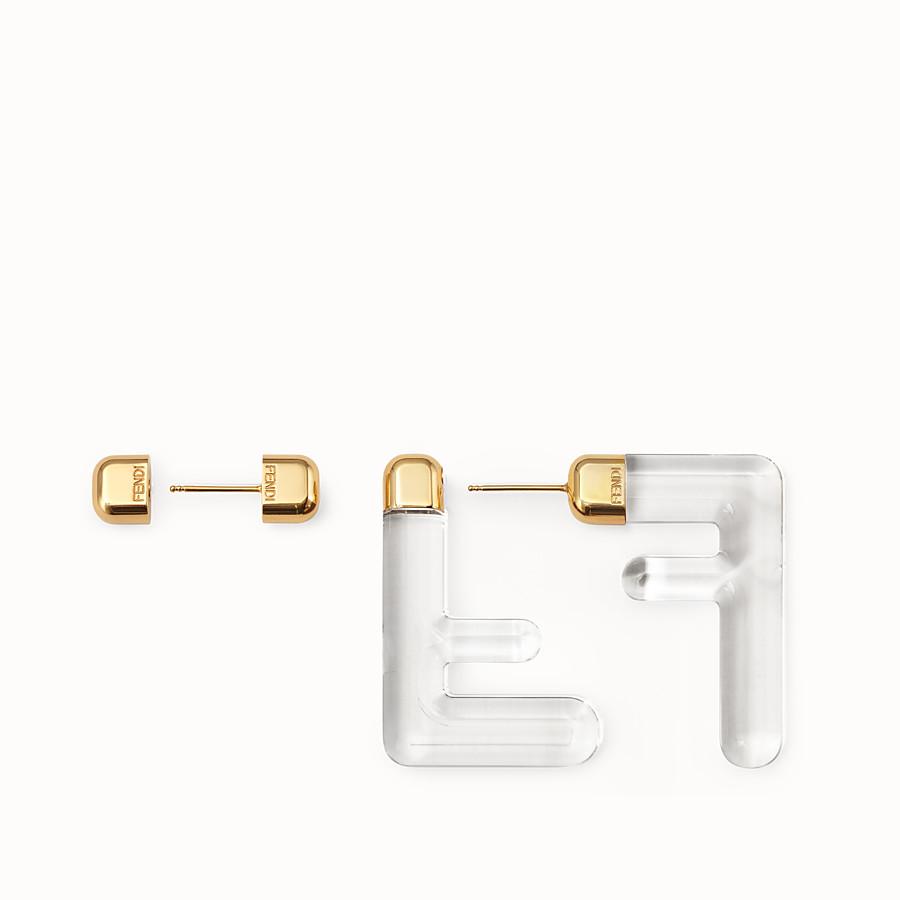 FENDI FF EARRINGS SMALL - Transparent plexi earrings - view 3 detail