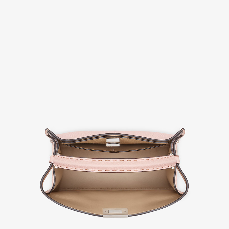 FENDI PEEKABOO X-LITE MEDIUM - Pink leather bag - view 5 detail