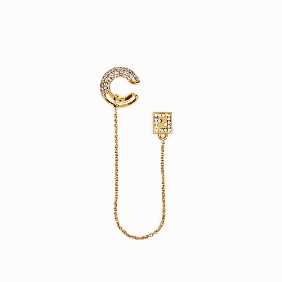 FENDI FENDIOOPS EARRINGS - Gold-colour earring - view 1 detail