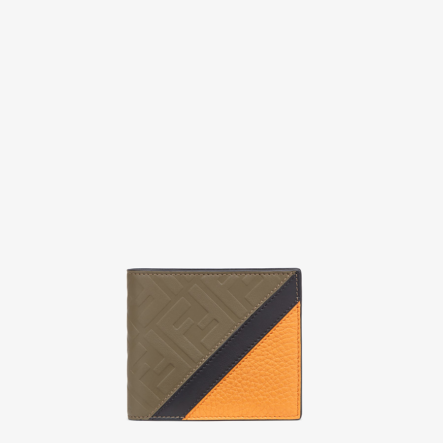 FENDI WALLET - Brown leather bi-fold wallet - view 1 detail