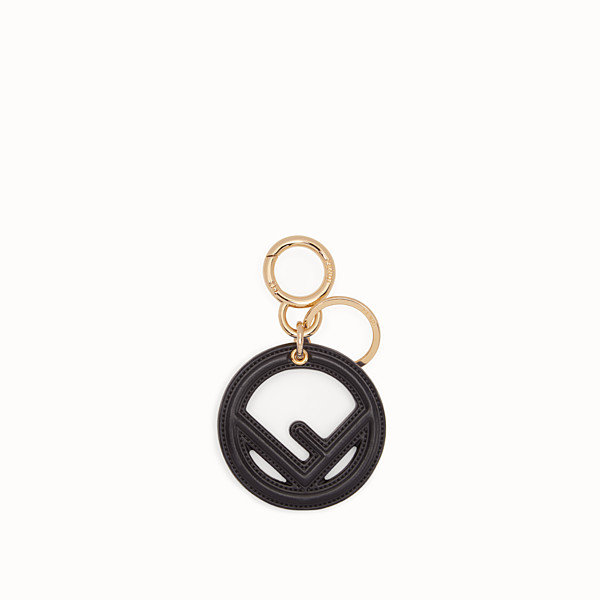 FENDI KEY RING - Black leather key ring - view 1 small thumbnail