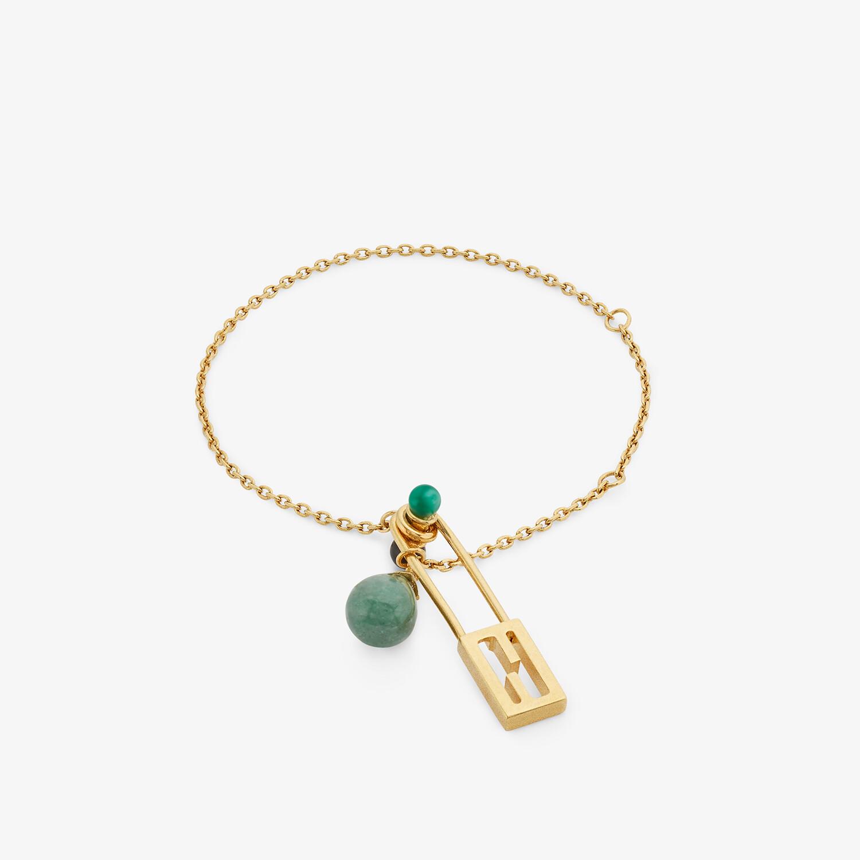FENDI BAGUETTE BRACELET SMALL - Gold-colored bracelet - view 1 detail