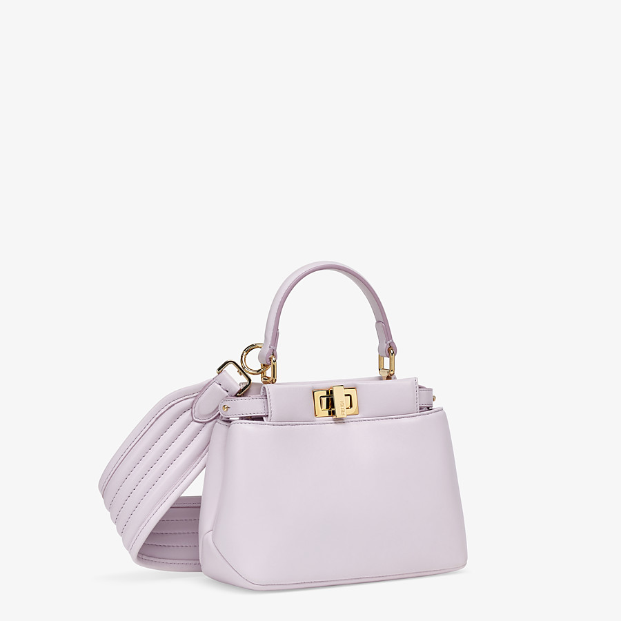 FENDI PEEKABOO ICONIC XS - Lilac nappa leather bag - view 3 detail