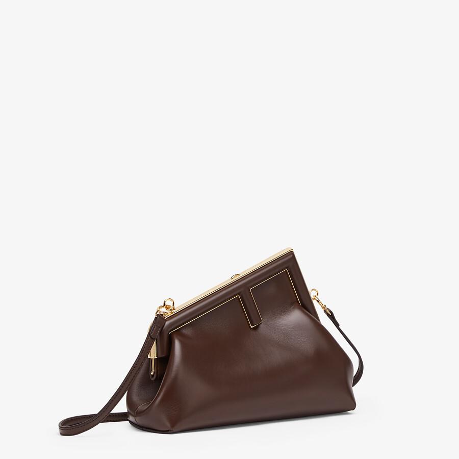 FENDI FENDI FIRST SMALL - Dark brown leather bag - view 2 detail