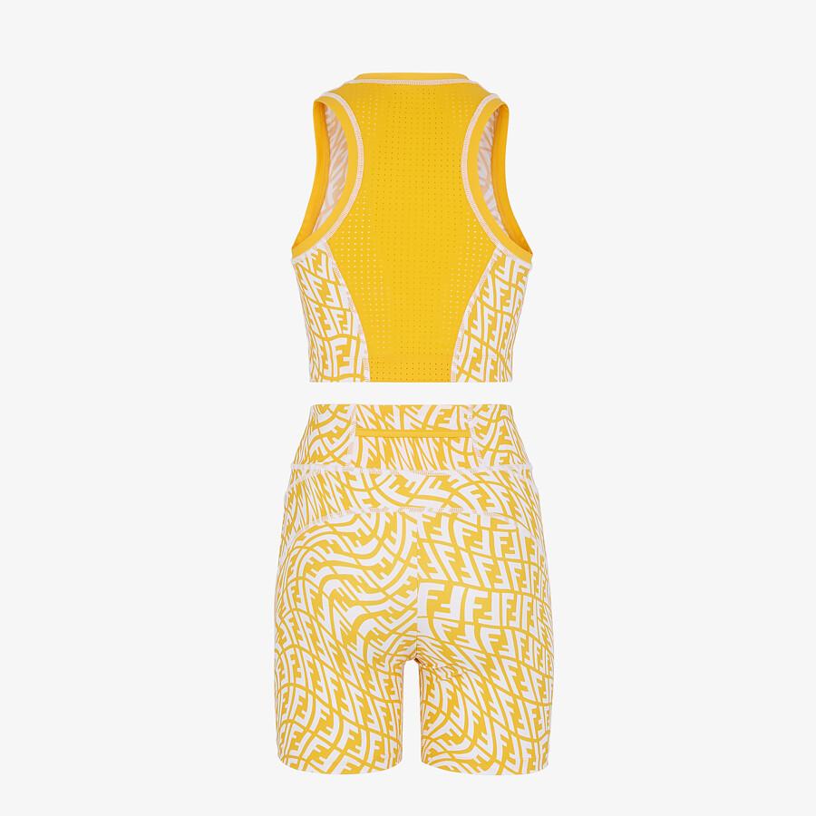 FENDI FITNESS SET - Yellow Lycra® fitness set - view 2 detail
