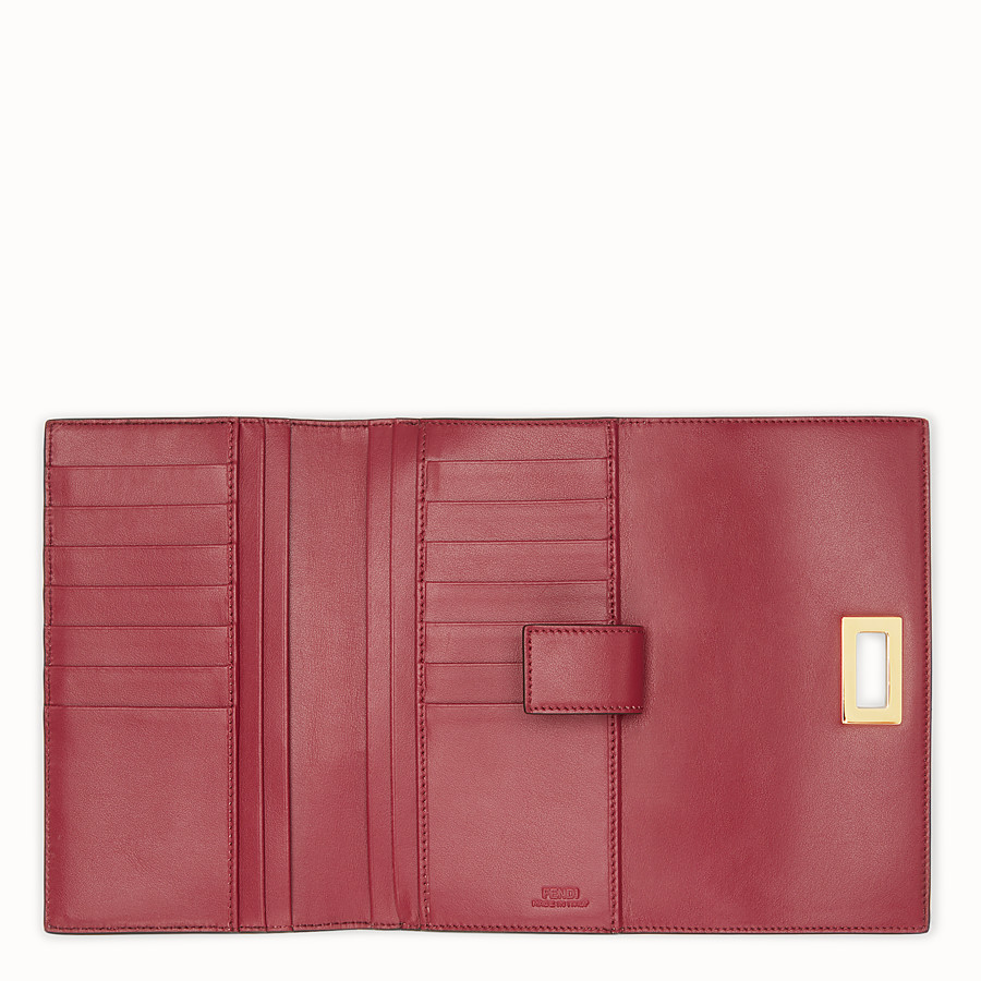 FENDI CONTINENTAL - Red leather wallet - view 5 detail