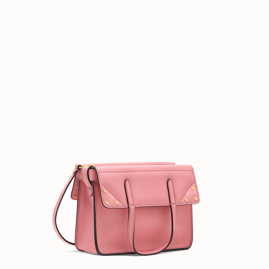 FENDI FENDI FLIP SMALL - Pink leather bag - view 3 detail