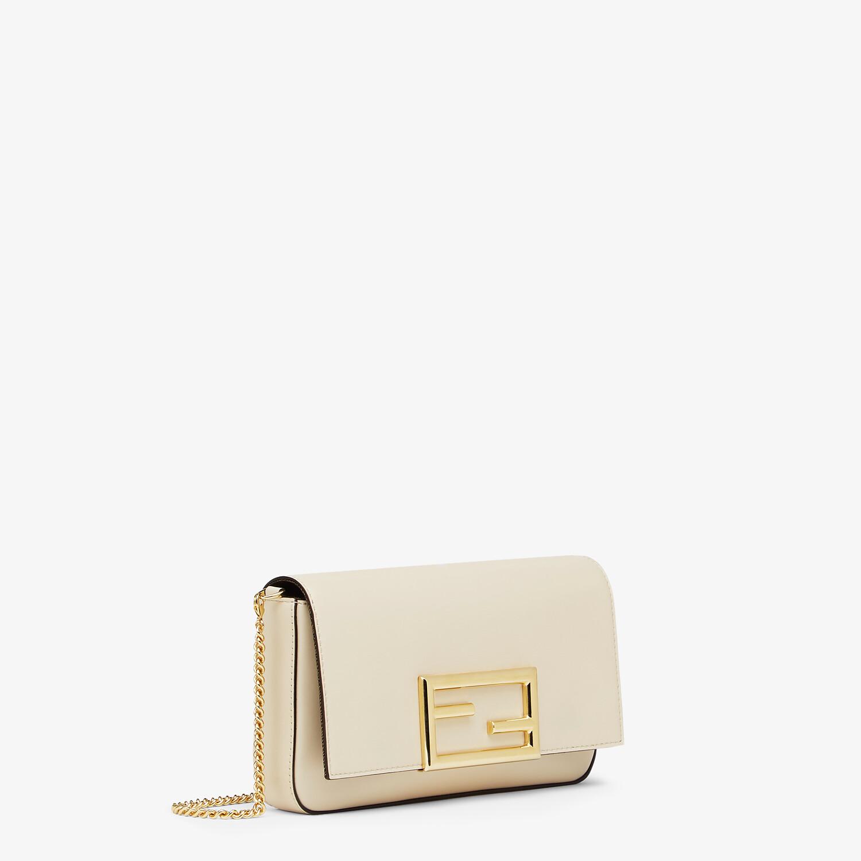 FENDI WALLET ON CHAIN WITH POUCHES - White leather mini-bag - view 3 detail