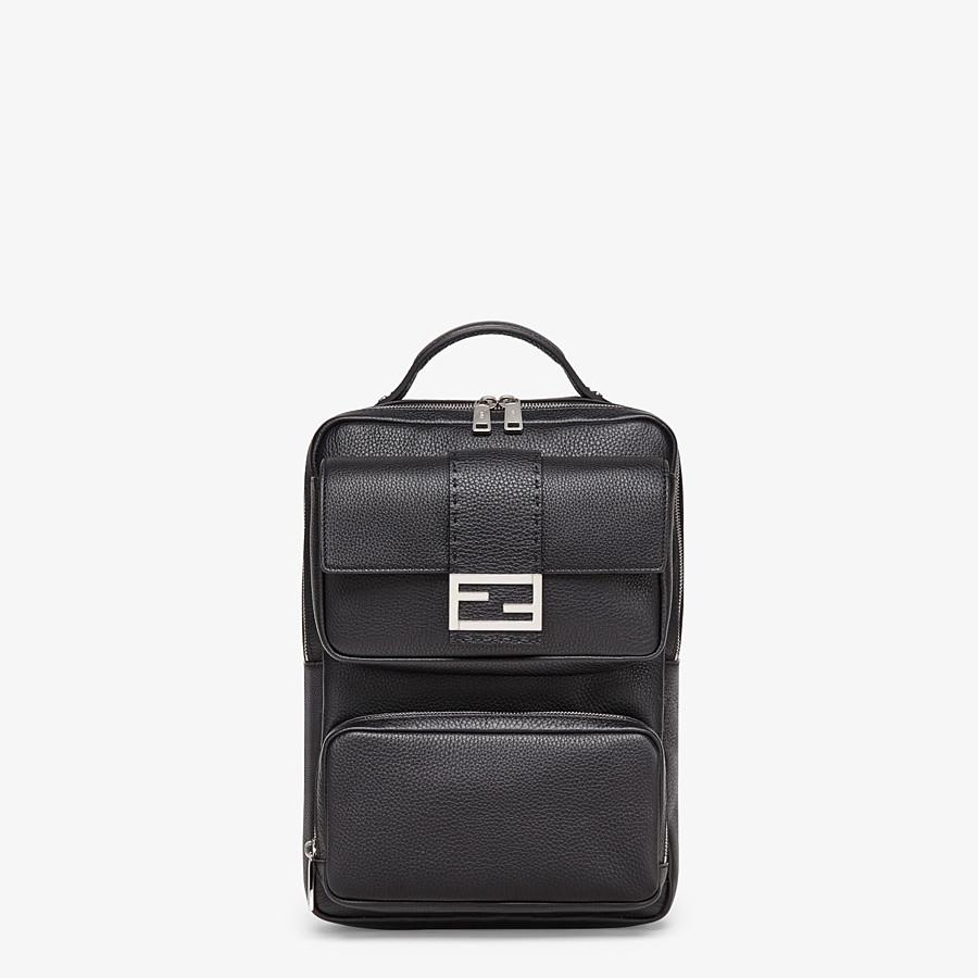 FENDI BACKPACK - Black calfskin backpack - view 1 detail
