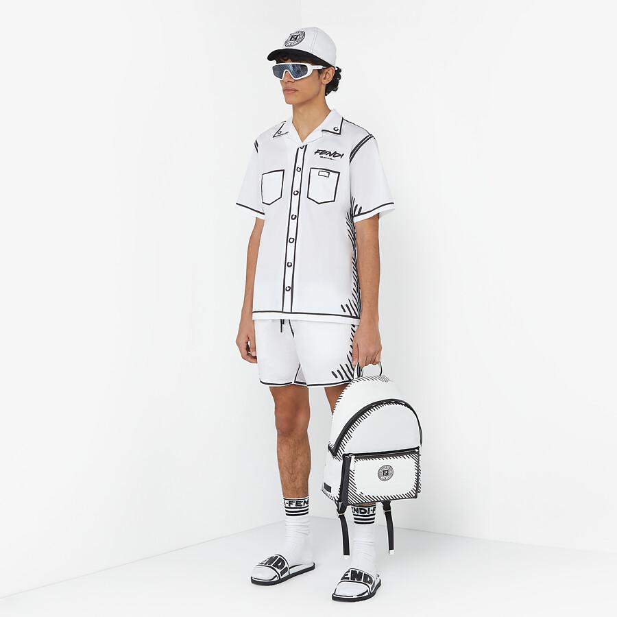 FENDI BACKPACK - Fendi Roma Joshua Vides nylon backpack - view 5 detail