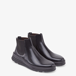 FENDI CHELSEA - Black leather ankle boots - view 4 thumbnail