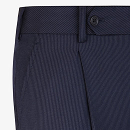 FENDI TROUSERS - Multicolour wool and silk trousers - view 3 thumbnail