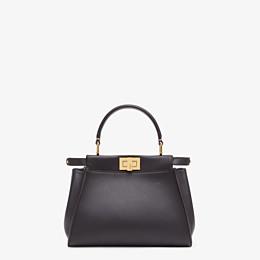 FENDI PEEKABOO ICONIC MINI - Brown leather bag - view 1 thumbnail