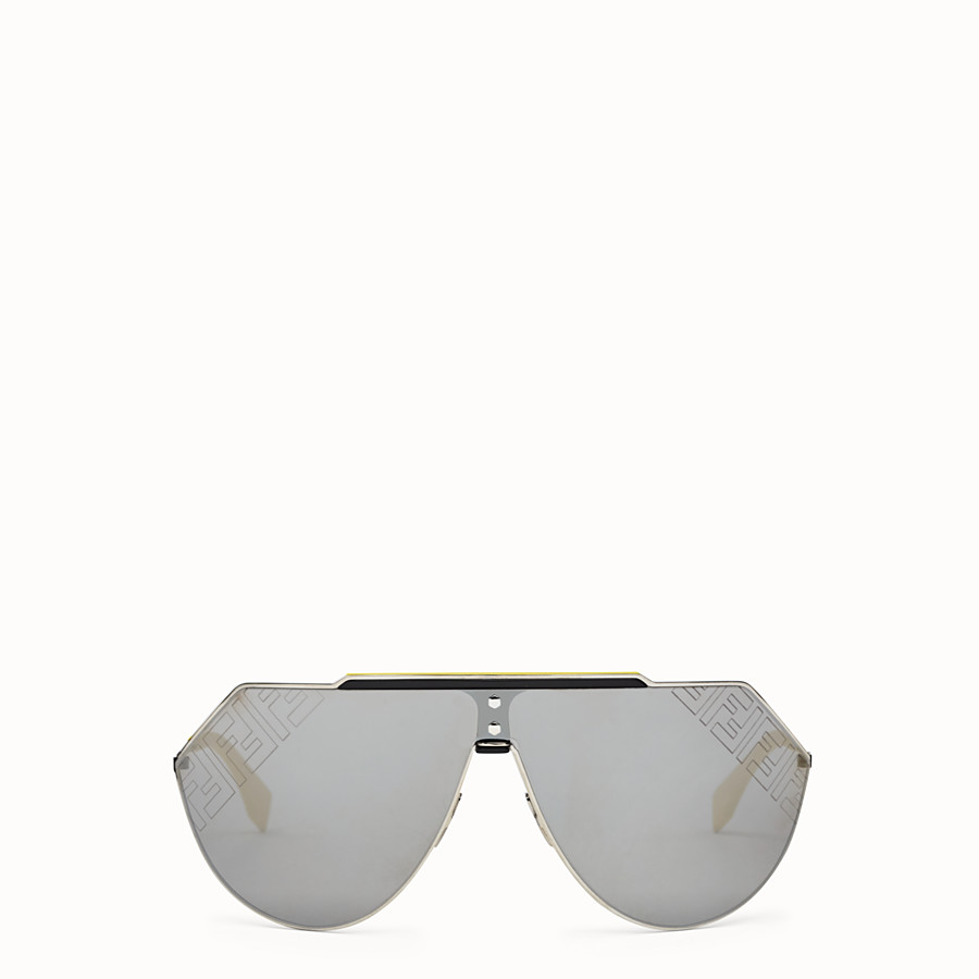 FENDI EYELINE 2.0 - Yellow and ruthenium sunglasses - view 1 detail