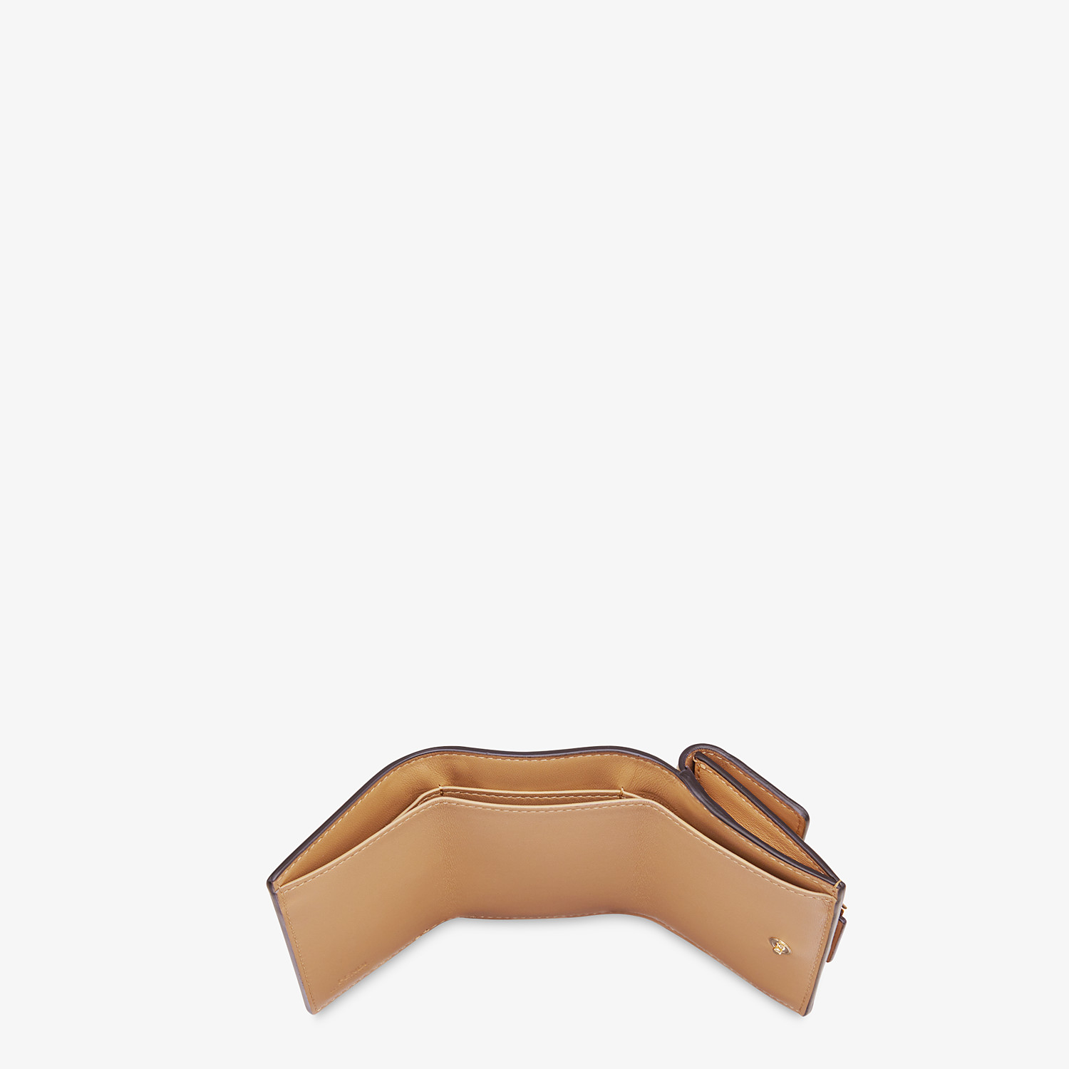 FENDI MICRO TRIFOLD - Beige nappa leather wallet - view 4 detail