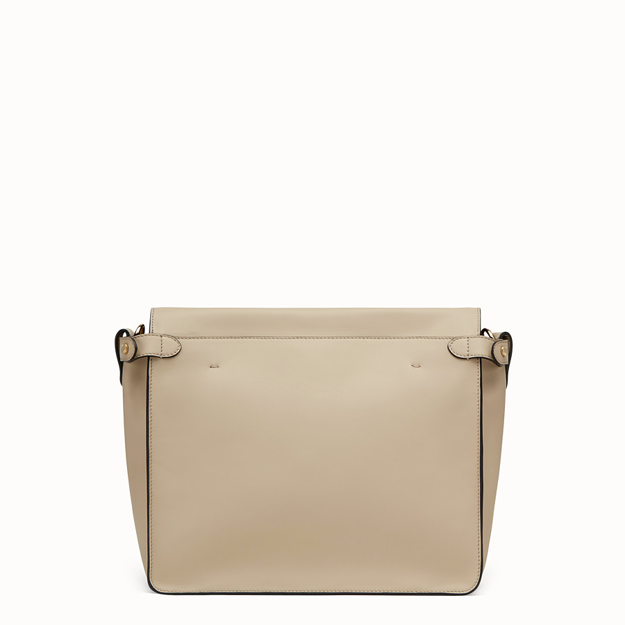 FENDI FENDI FLIP LARGE - Beige leather bag - view 5 detail