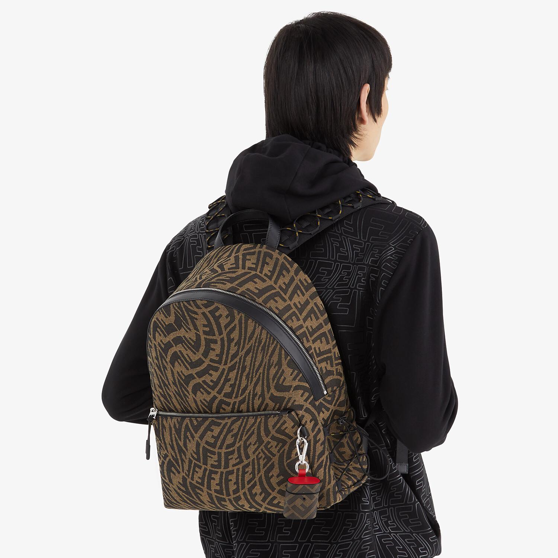 FENDI BACKPACK - Backpack in brown FF Vertigo fabric - view 5 detail